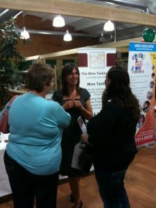 Kelli and visitors at the Puxton Park Wedding Show