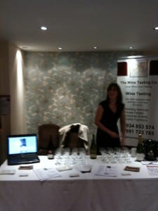 Kelli from The Wine Tasting Co. at Cadbury House Wedding Show